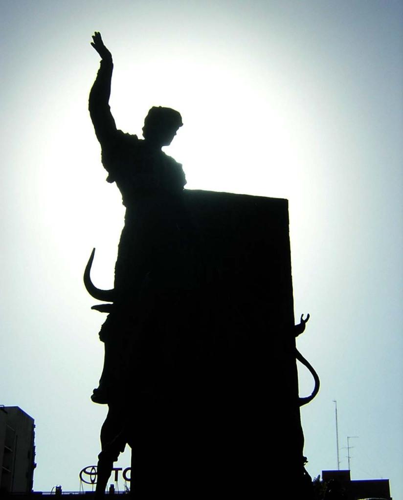 Estátua de toureiro em Las Ventas - Madri