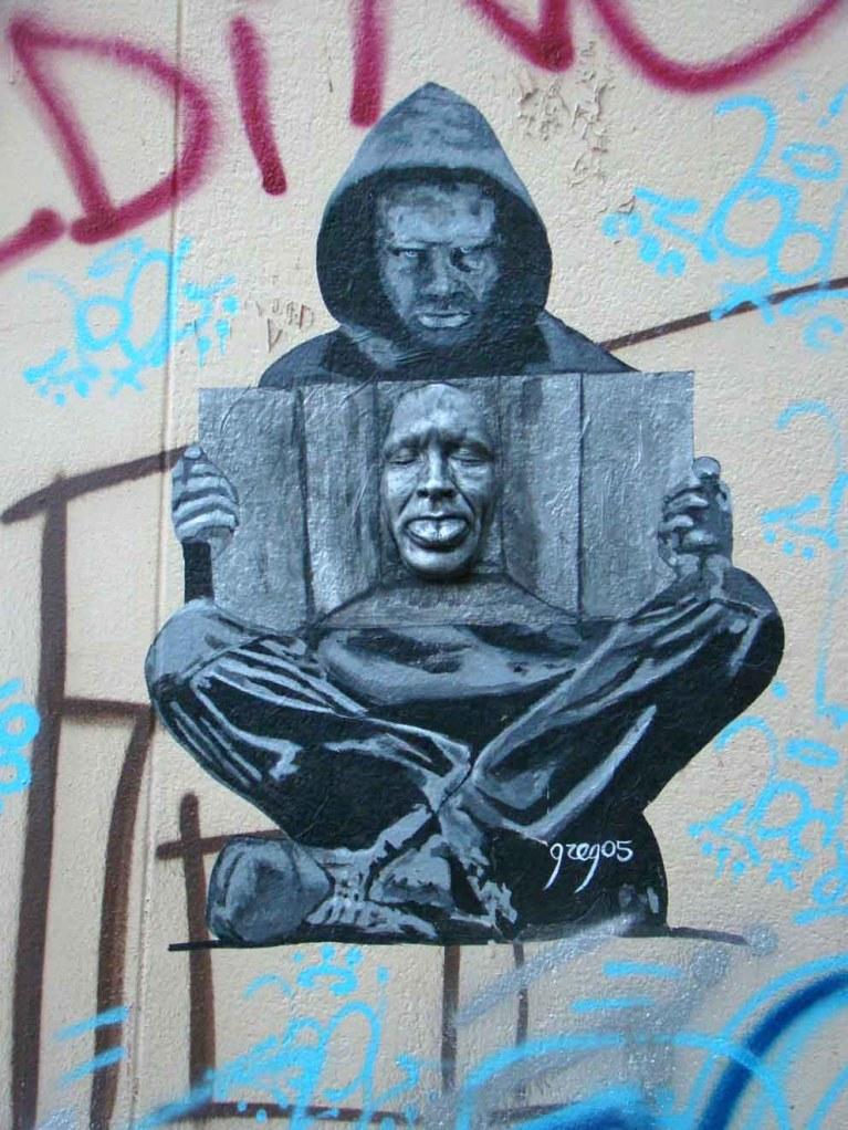Máscaras - Arte de Rua em Paris