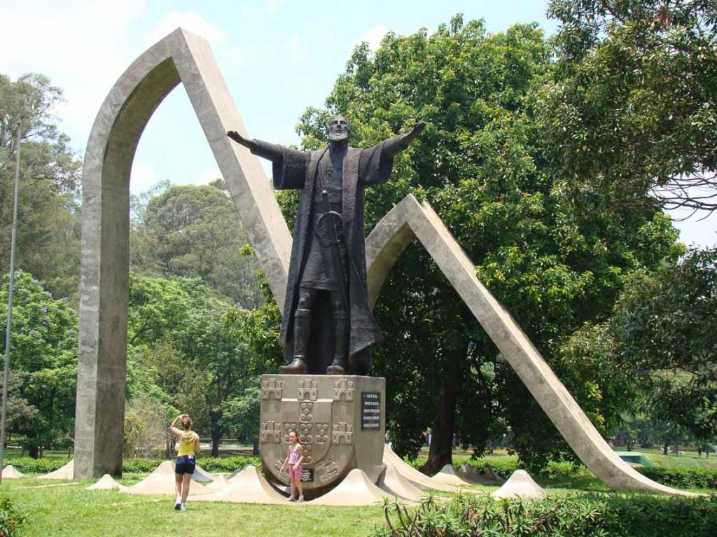 Estátua de Pedro Alvarez Cabral no Ibirapuera