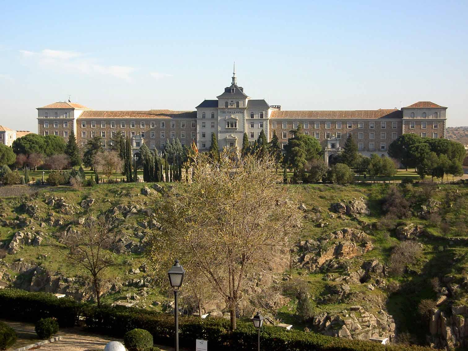 Vista do lado do Alcazar de Toledo