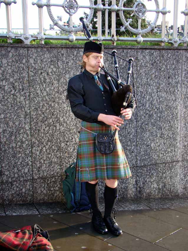 Gaita escocesa em Edimburgo