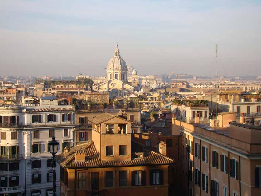 Roma vista do alto da Igreja Trinità dei Monti