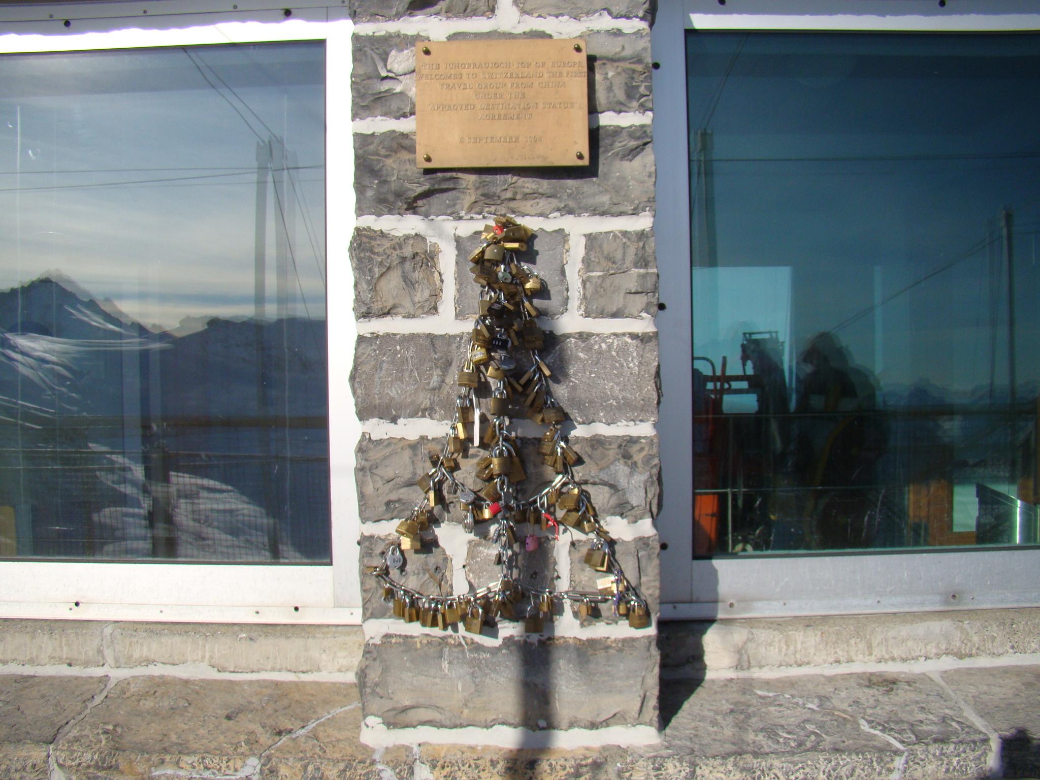 Cadeados no Jungfrau - Suiça