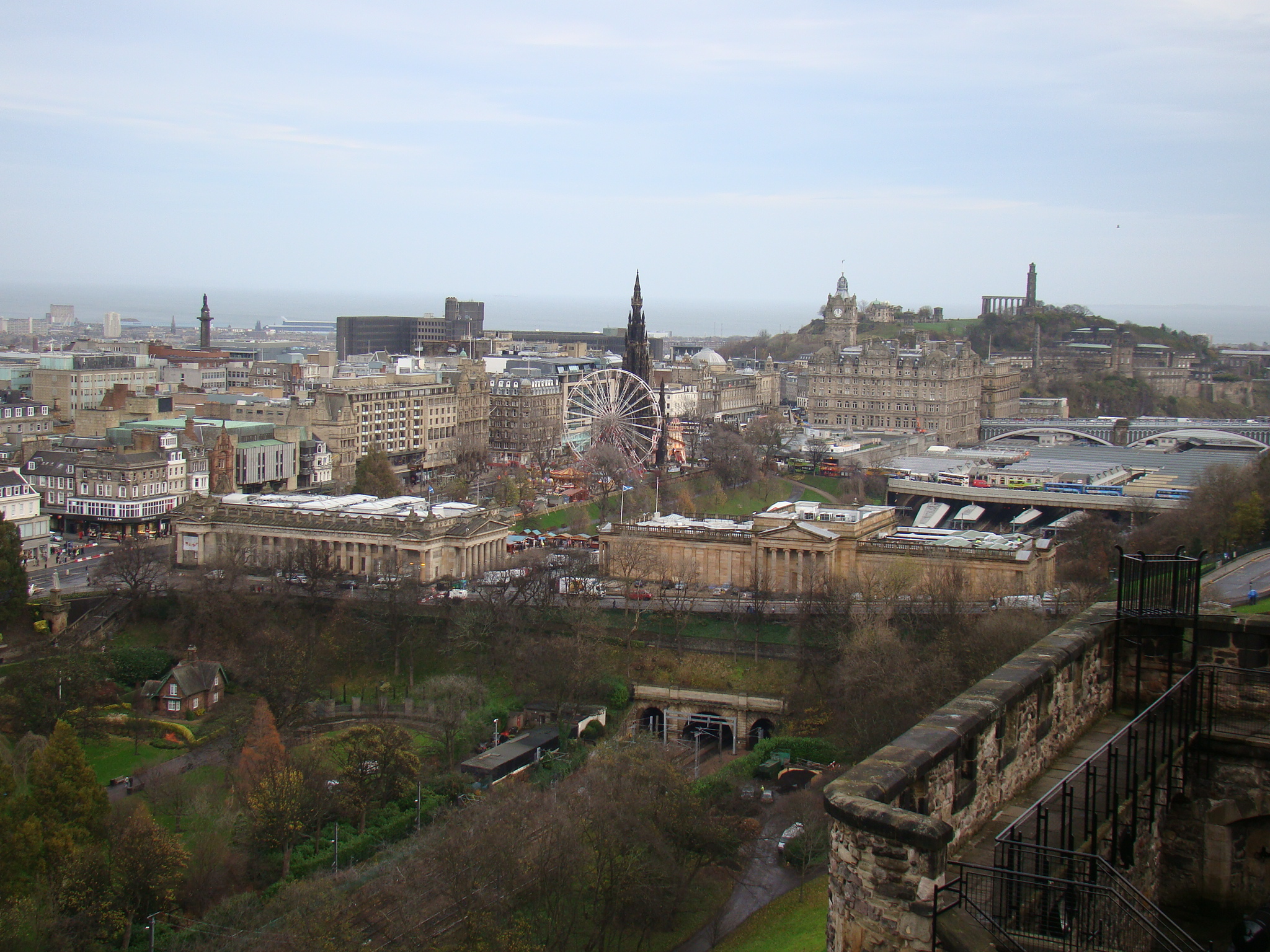 Vista do castelo de Edimburgo