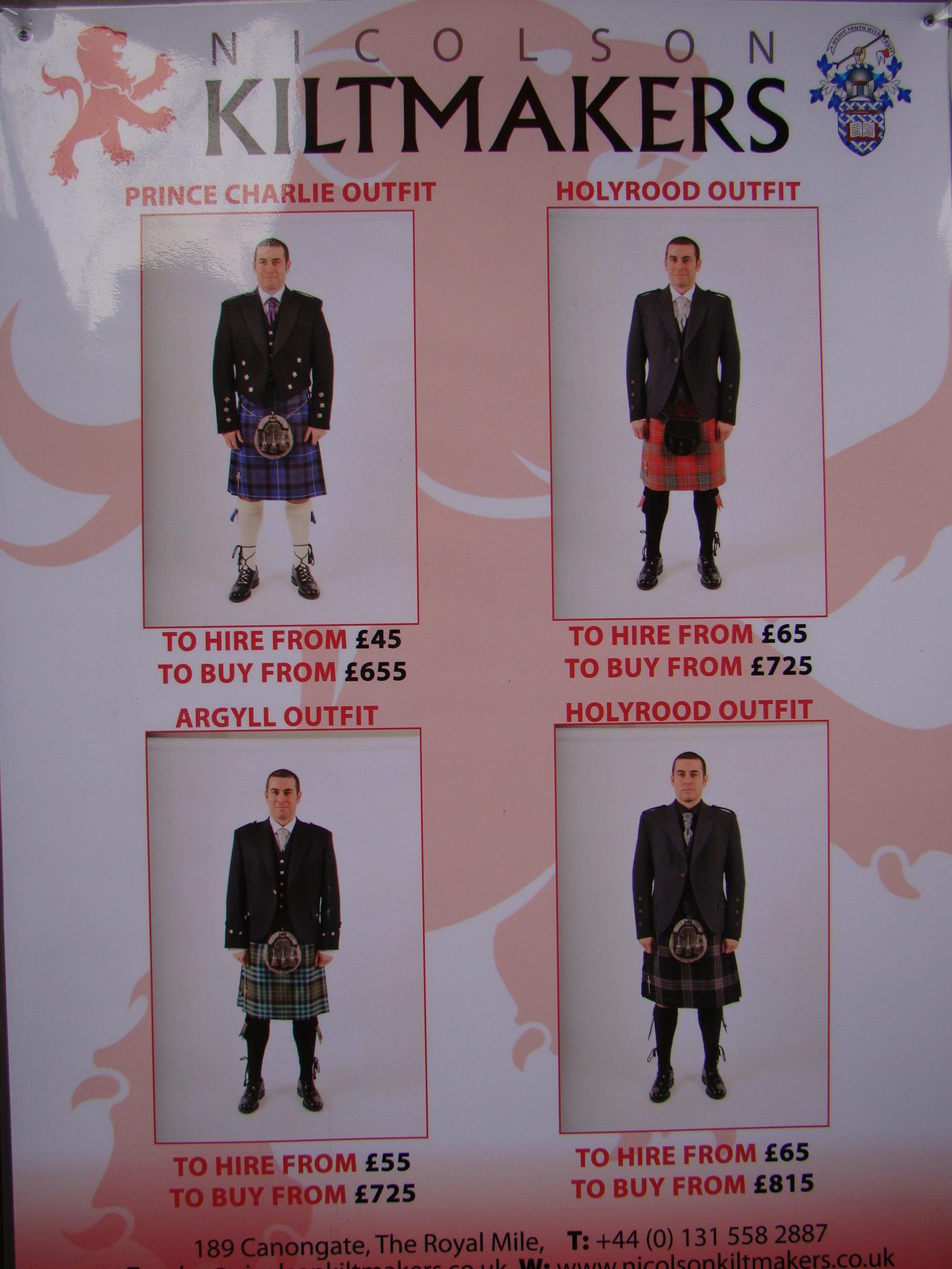 Royal Mile: Loja de Kilt