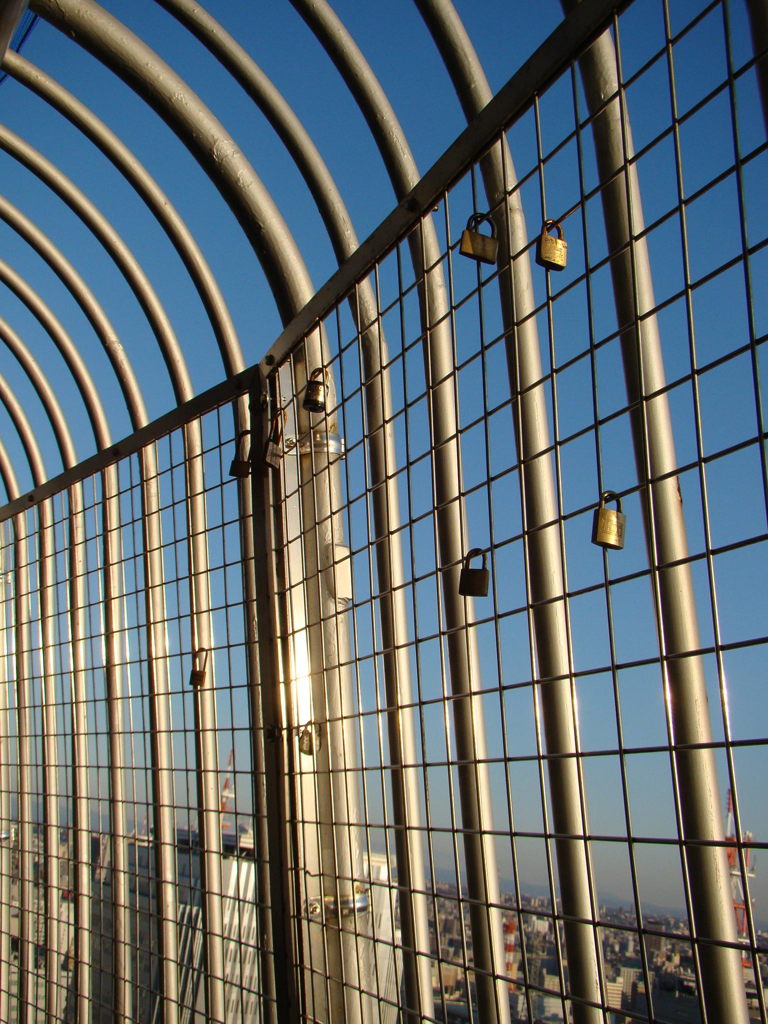 Cadeados na Torre de TV de Nagoya