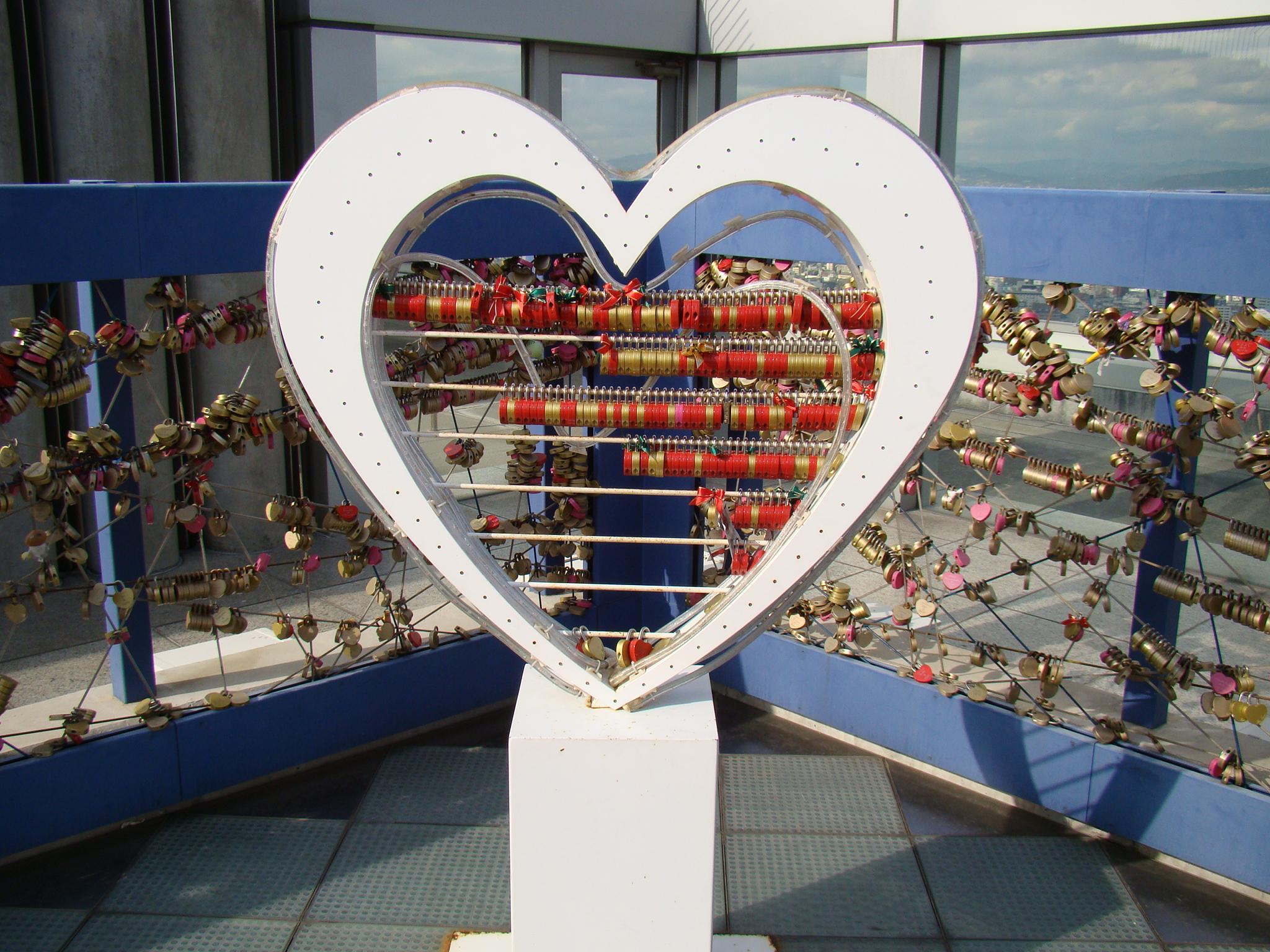 Cadeados no Sky Building - Osaka, Japão