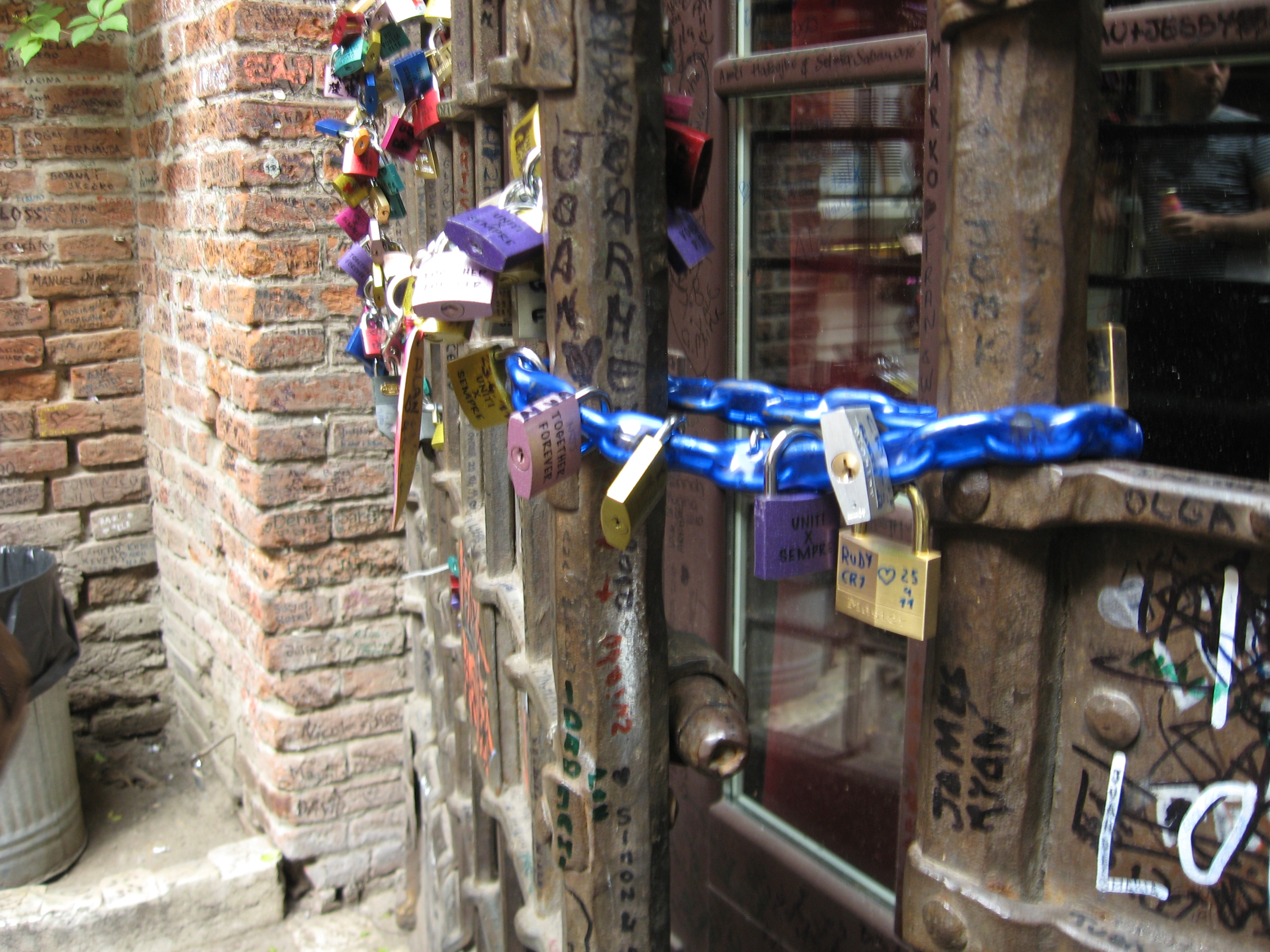 Cadeados em Verona - Itália