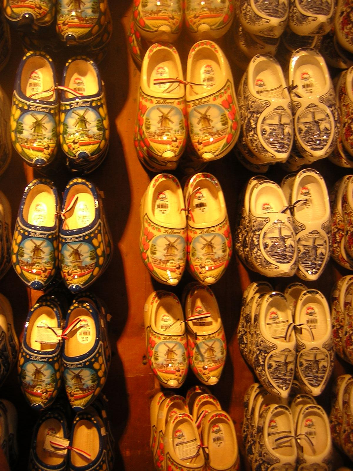 Sapatos de madeira em Zaanse Shans - Holanda