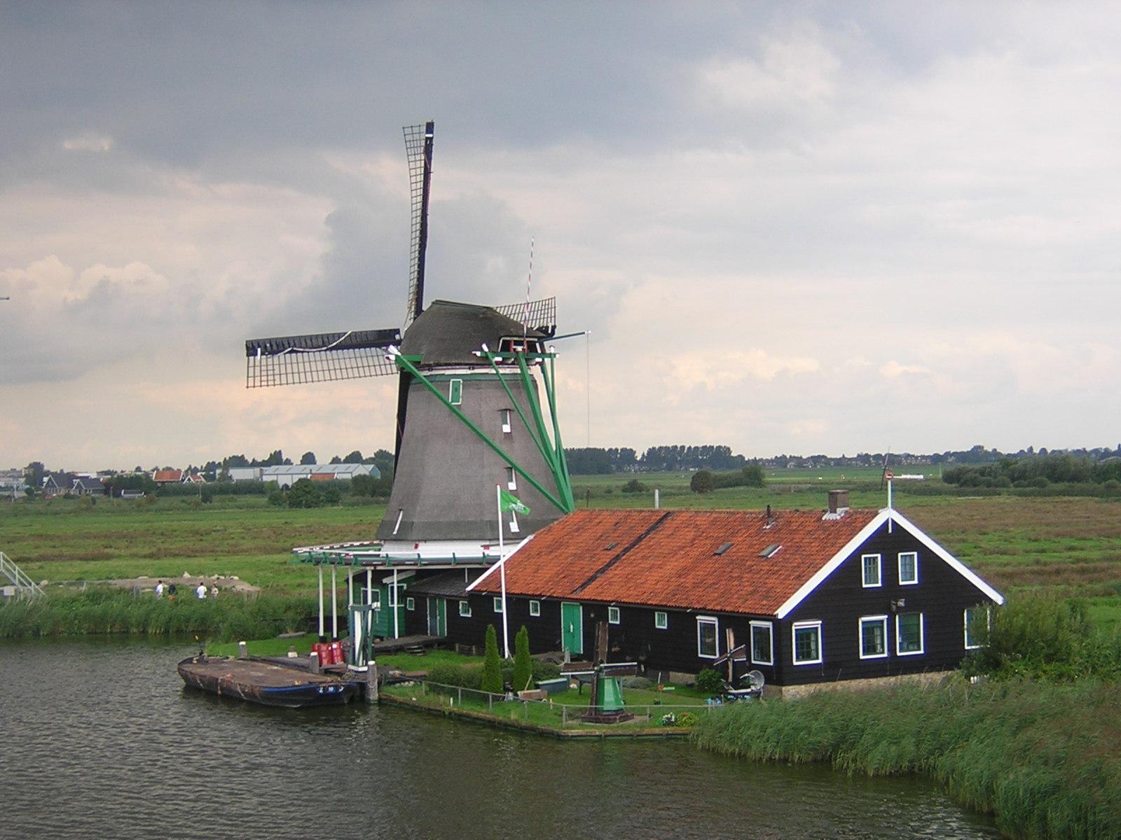 Moinhos em Zaanse Shans - Holanda