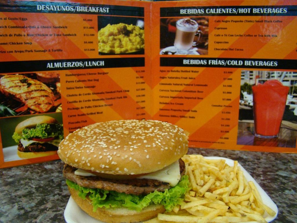 Hambúrguer horrível que comi no aeroporto