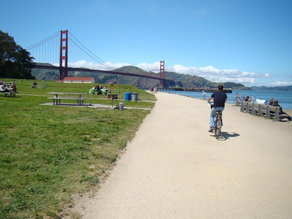 Crissy Fields de bicicleta