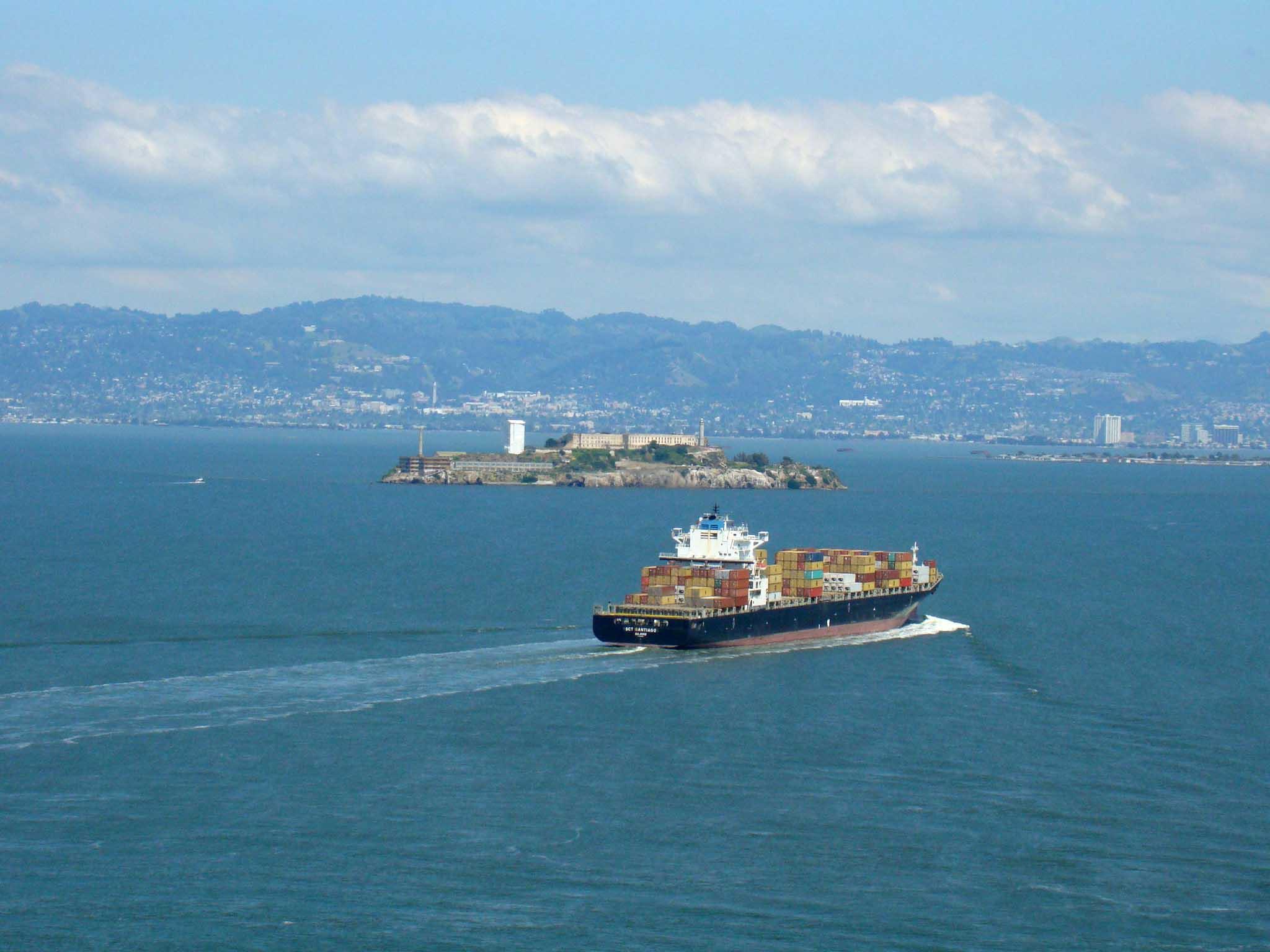 Alcatraz vista do alto da Golden Gate