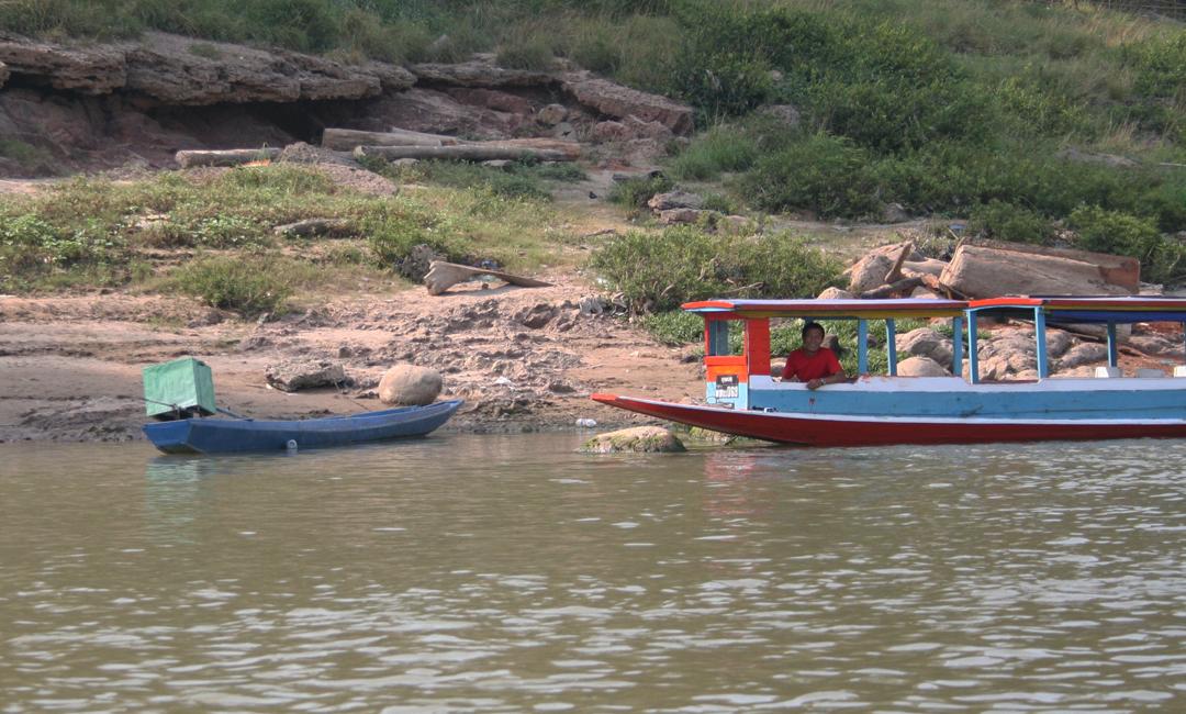 Barcos em Luang Prabang, Laos