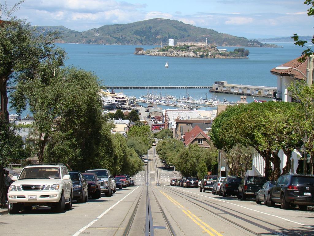 Alcatraz vista do alto de São Francisco