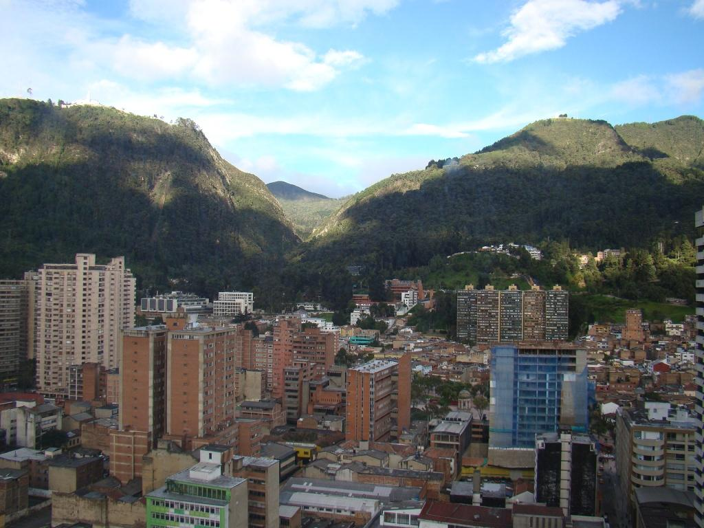 Bogotá vista do Museu da Esmeralda