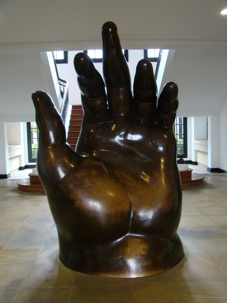 Mão de Botero - Museu Botero - Bogota