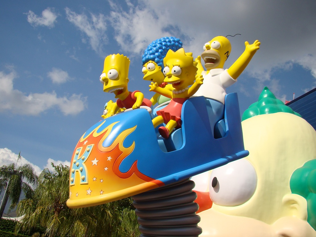 The Simpsons ride - Universal Studios