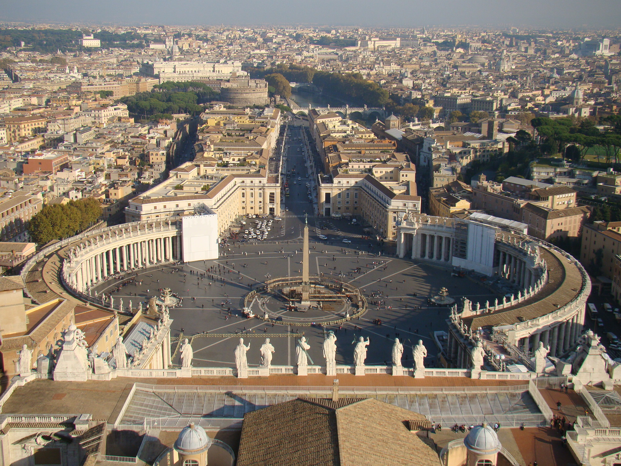 Roma vista do alto do Vaticano